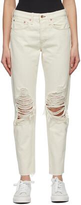Rag & Bone Off-White Mid-rise Rosa Jeans