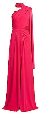 Saloni Women's Honey Asymetrical High-Neck Gown