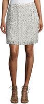 See by Chloe Printed Plisse Skirt, Beige/Multi