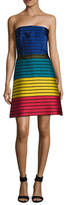 Mary Katrantzou Striped Colorbocked Flared Dress