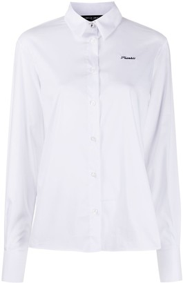 Frankie Morello Embroidered Logo Shirt