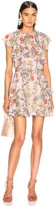 Marissa Webb Sully Mini Dress in Dusty Rose English Bouquet | FWRD