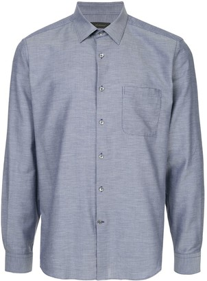 Durban Long-Sleeved Micro-Print Shirt