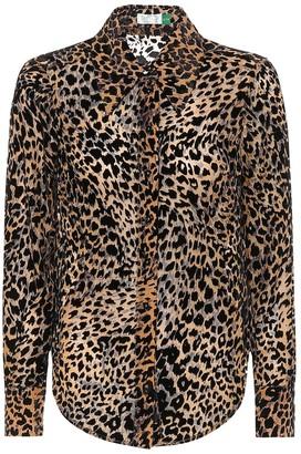 Rixo Andrea silk-blend blouse