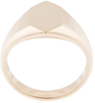Natalie Marie 9kt yellow gold Piet Signet ring