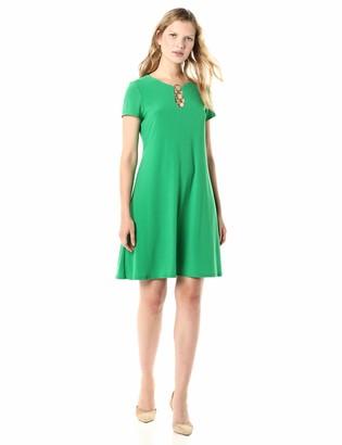 MSK Women's Short Sleeve Three Ring Dress