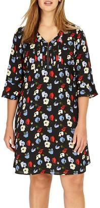 Studio 8 Andrea Floral Tunic Dress, Black/Multi