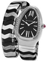 Bvlgari Serpenti Diamond, Ceramic & Stainless Steel Turbogas Bracelet Watch