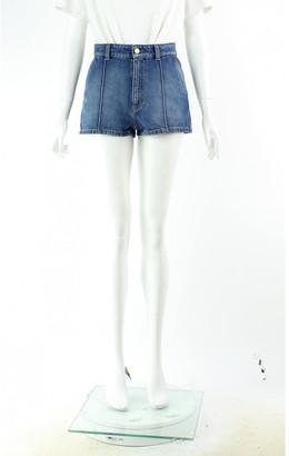 Alexander McQueen Blue Cotton Shorts