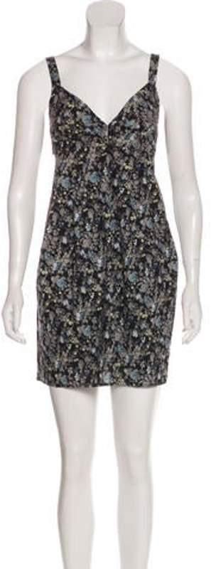 Preen by Thornton Bregazzi Sleeveless Mini Dress Blue Sleeveless Mini Dress