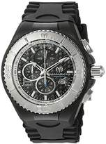 Technomarine Men's Quartz Watch with Black Dial Chronograph Display and Black Silicone Strap TM-115110
