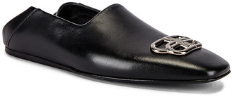 Balenciaga Cosy BB Loafer F005 in Black & Nikel | FWRD