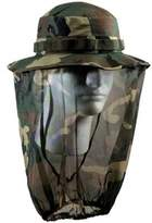 Rothco Woodland Camouflage Boonie Hat w/Mosquito Netting 5833