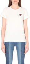 Mo&Co. Heart patch cotton t-shirt