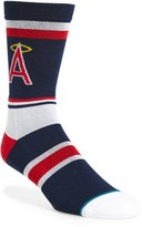 Stance Men's Mlb Retro California Angels Crew Socks