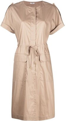 Peserico Drawstring-Waist Shirt Dress