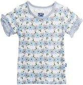 Kickee Pants Kimono Tee (Toddler/Kid) - Natural Hydrangea Chain-3T