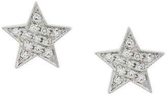 Dana Rebecca Designs diamond and 14kt white gold Julianne Himiko Star Earrings