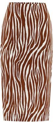 Diane von Furstenberg Printed crApe midi skirt