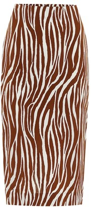 Diane von Furstenberg Printed crepe midi skirt