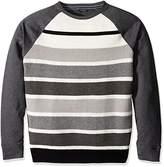 Nautica Men's Long Sleeve Striped Crew Neck French Terry Sweatshirt