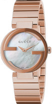 Gucci Interlocking-G collection rose gold-toned watch