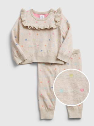 Gap Baby Heart Sweater Outfit Set
