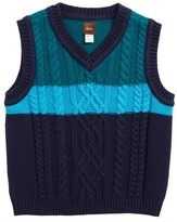 Tea Collection Toddler Boy's Edan Cable Knit Sweater Vest