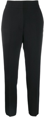 MSGM Cropped Slim-Fit Trousers