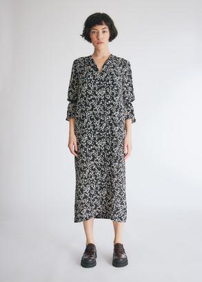 Baum und Pferdgarten Women's Adessa Dress in Black Ditsy Floral, Size 36 | Spandex