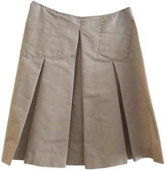 Prada Ecru Silk Skirt for Women