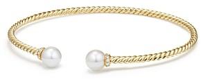 David Yurman Solari Pearl Bracelet with Cultured Akoya Pearls & Diamonds in 18K Gold