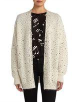Saint Laurent Embellished Wool Cardigan