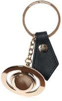 Vivienne Westwood Metal Orbit And Leather Key Chain