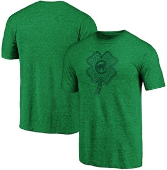 Men's Fanatics Branded Kelly Green Chicago Cubs St. Patrick's Day Paddy's Pride Tri-Blend Team T-Shirt