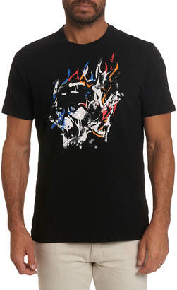 Robert Graham Men's Fire Racing Graphic Crewneck Tee