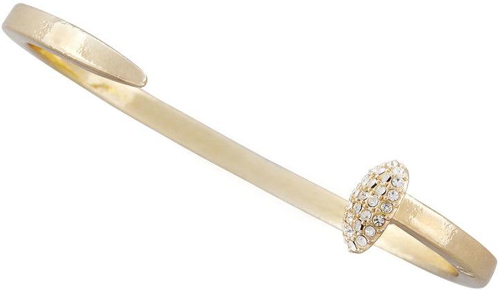 Giles & Brother by Philip Crangi Skinny Crystal Railroad Spike Bracelet, Golden