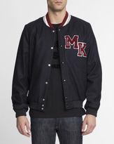 MAISON KITSUNÉ Navy Blue Wool Teddy Jacket