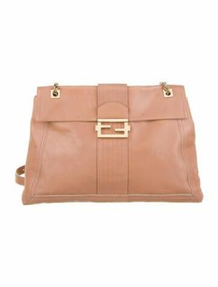 Fendi Maxi Baguette Flap Bag Pink