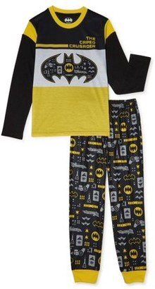 Batman Boys Long Sleeve Pajama Set, 2-Piece, Sizes 4-12