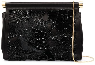 Alberta Ferretti Embellished Chain Clutch Bag