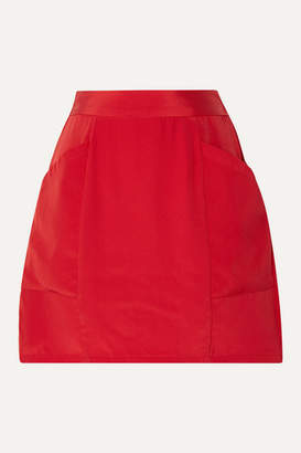 Fleur Du Mal Silk-crepe Mini Skirt - Red