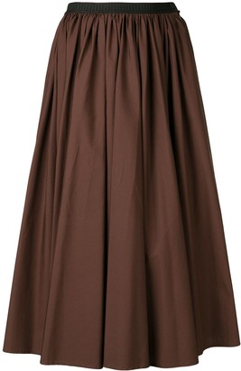 Antonio Marras contrast waistband midi skirt