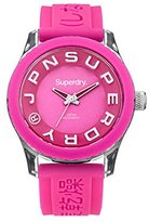 Superdry Women's 'Tokyo' Quartz Plastic and Silicone Dress Watch, Color:Pink (Model: SYL146P)