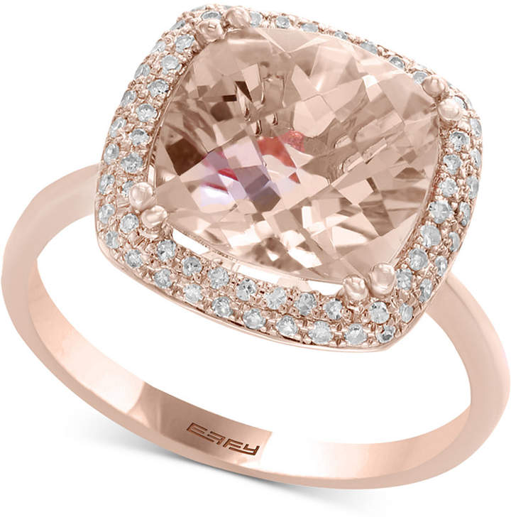 Effy Blush by Morganite (3-5/8 ct. t.w.) & Diamond (1/4 ct. t.w.) Ring in 14k Rose Gold