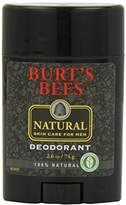 Burt's Bees 100% Natural Skin Care for Men Deodorant, 2.6 Ounces, Pack of 3