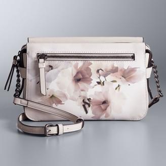 Simply Vera Vera Wang Faux-Leather Crossbody Bag