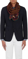 Drakes Drake's Men's Medallion-Print Wool-Silk Scarf-RED