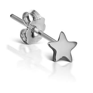 Maria Tash 3mm Plain Star Single Stud Earring - White Gold