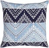 John Robshaw Blue Bayou Chevron Pillow